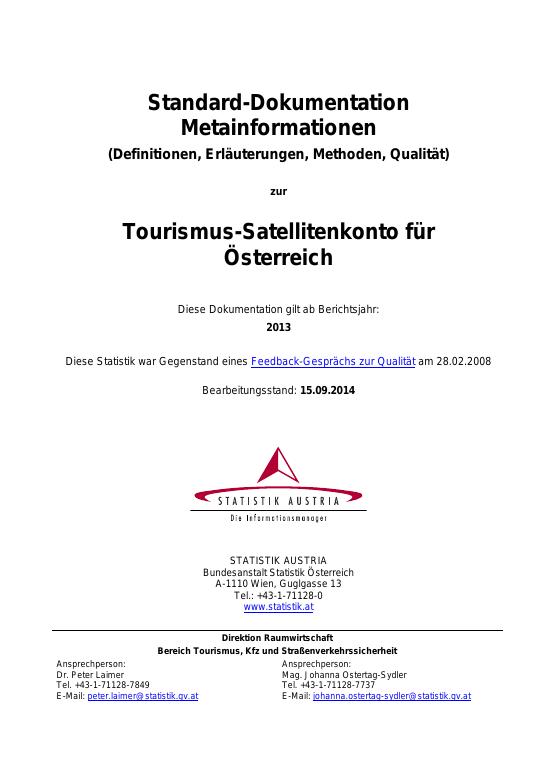 TSA for Austria: Standard-Documentation (DE)