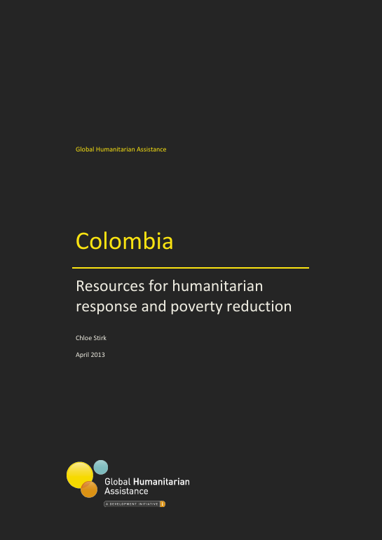 Colombia: Resources for humanitarian response and poverty reduction