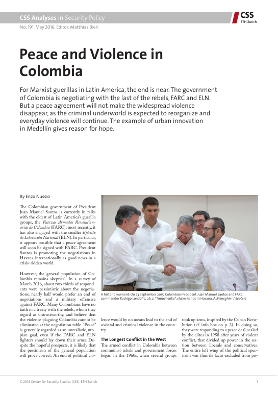 Peace and Violence in Colombia