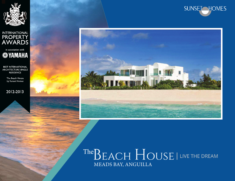The beach house brochure Meads Bay, Anguilla