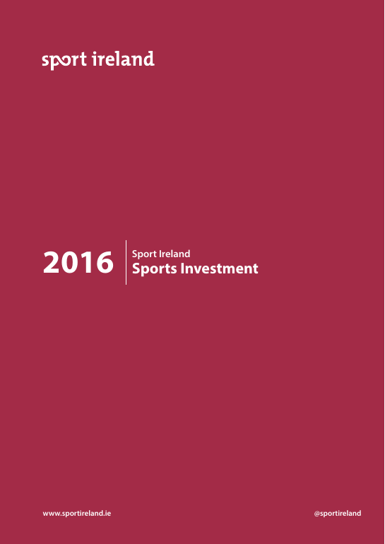 Sport Ireland Sports Investment 2016