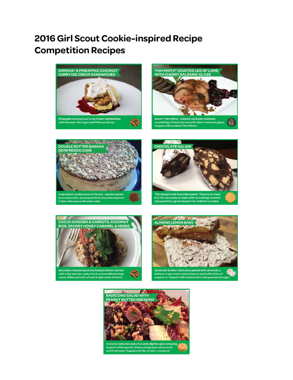 2016 Girl Scout Cookie-inspired Recipe