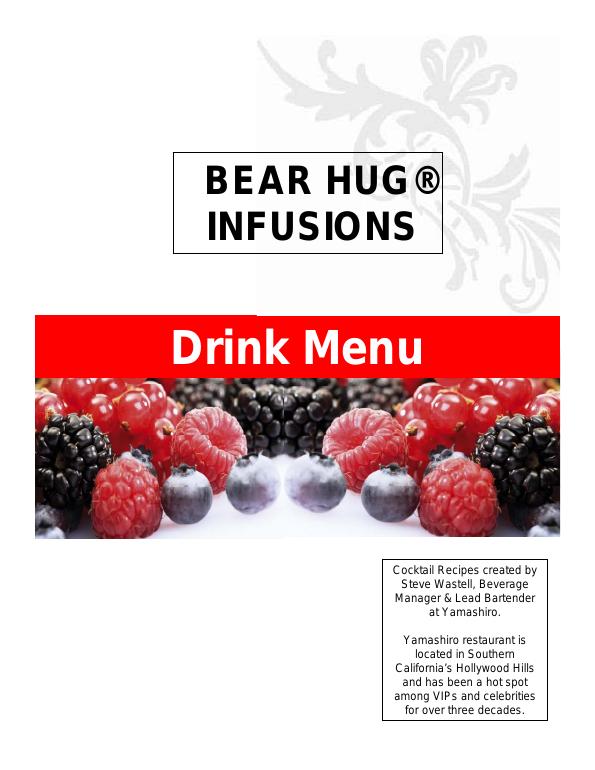 Bear Hug Infusions Drink Menu
