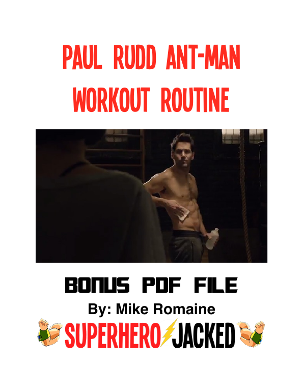 Paul rudd ant-man workout
