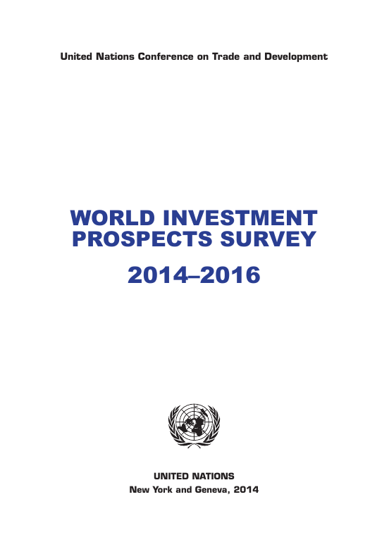 WORLD INVESTMENT PROSPECTS SURVEY 2014–2016