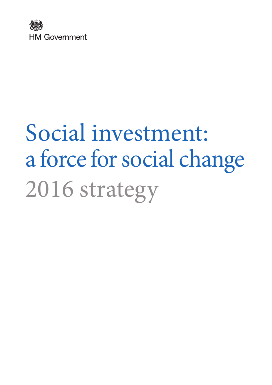 Social investment: a force for social change 2016 strategy