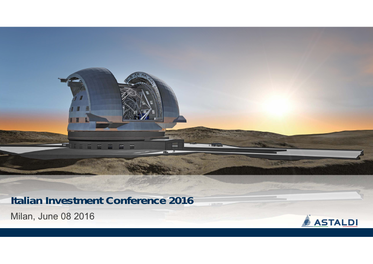 Italian investment conference 2016