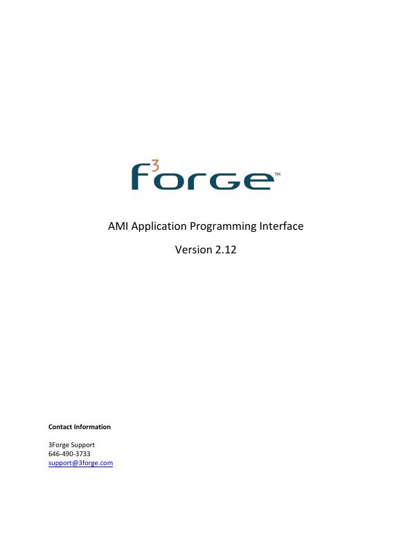 AMI Application Programming Interface