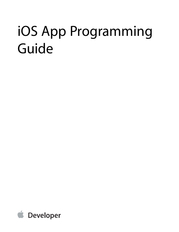 Ios App programming guide