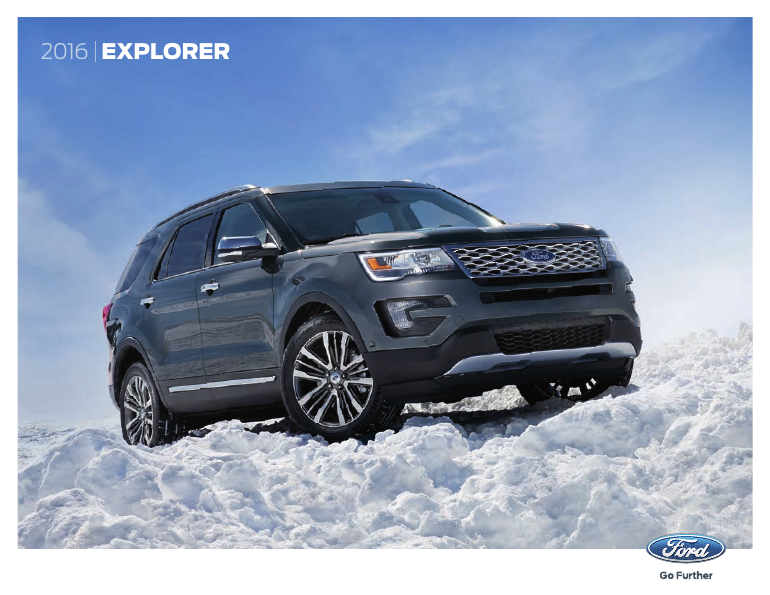 2016 ford explorer brochure