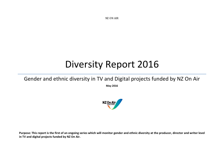 NZ On Air Diversity Report 2016