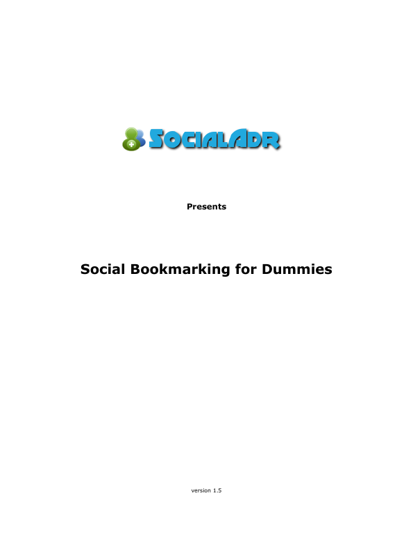 Social bookmarking for dummies