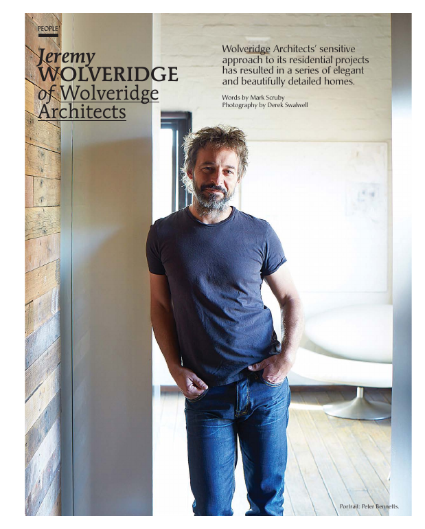 Jeremy Wolveridge of Wolveridge Architects.