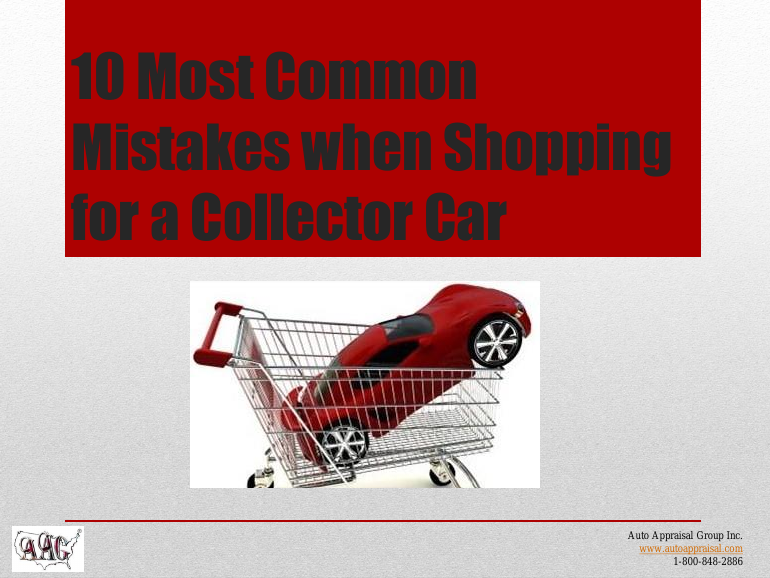 10 common mistakes when Shopping for a Collector Car