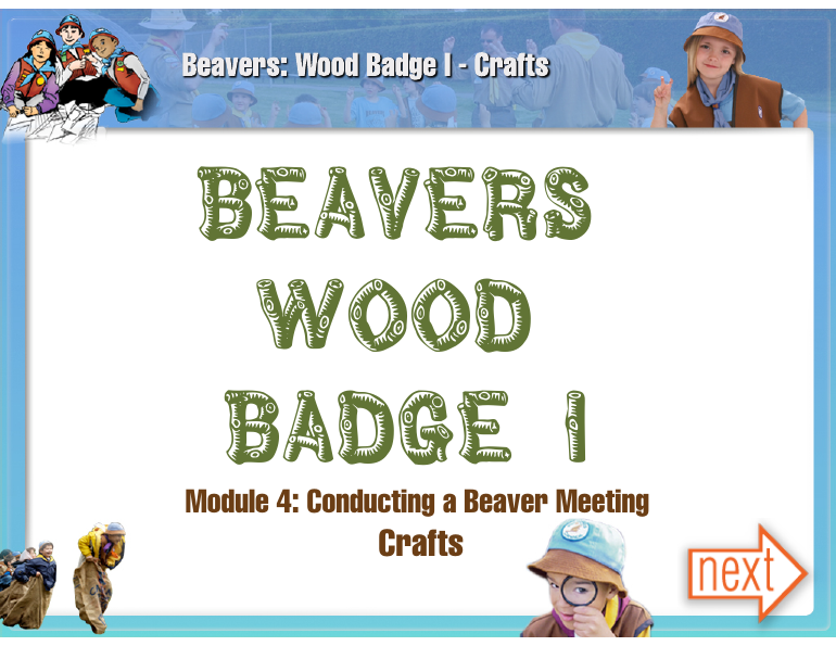 Beavers Wood Badge 1