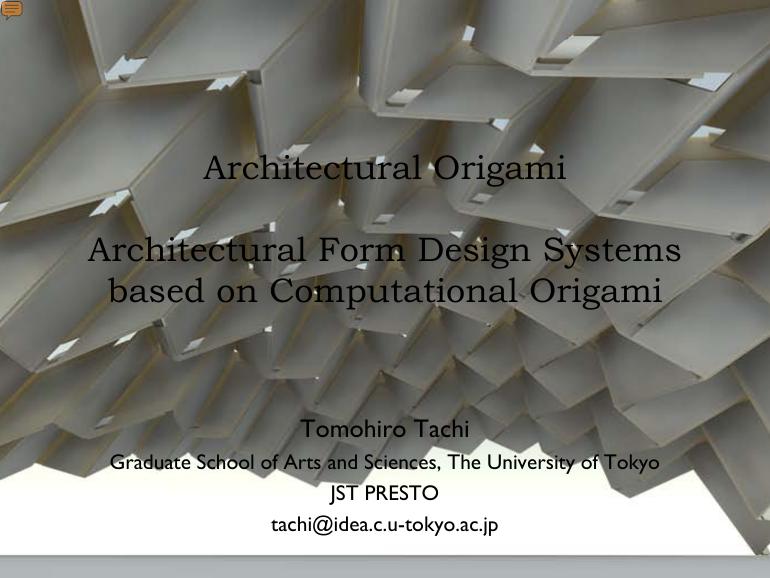 Architectural Origami