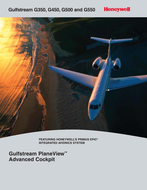 Gulf stream PlaneView advanced cockpit