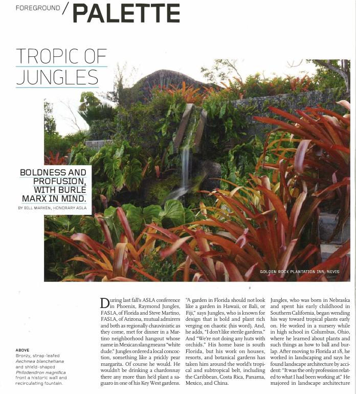 Landscape architecture magazine 2013