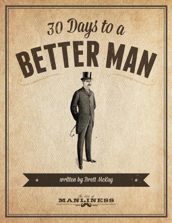30 days of a better man