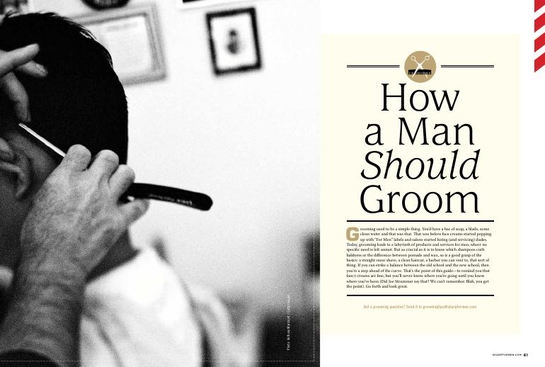 How a Man Should Groom